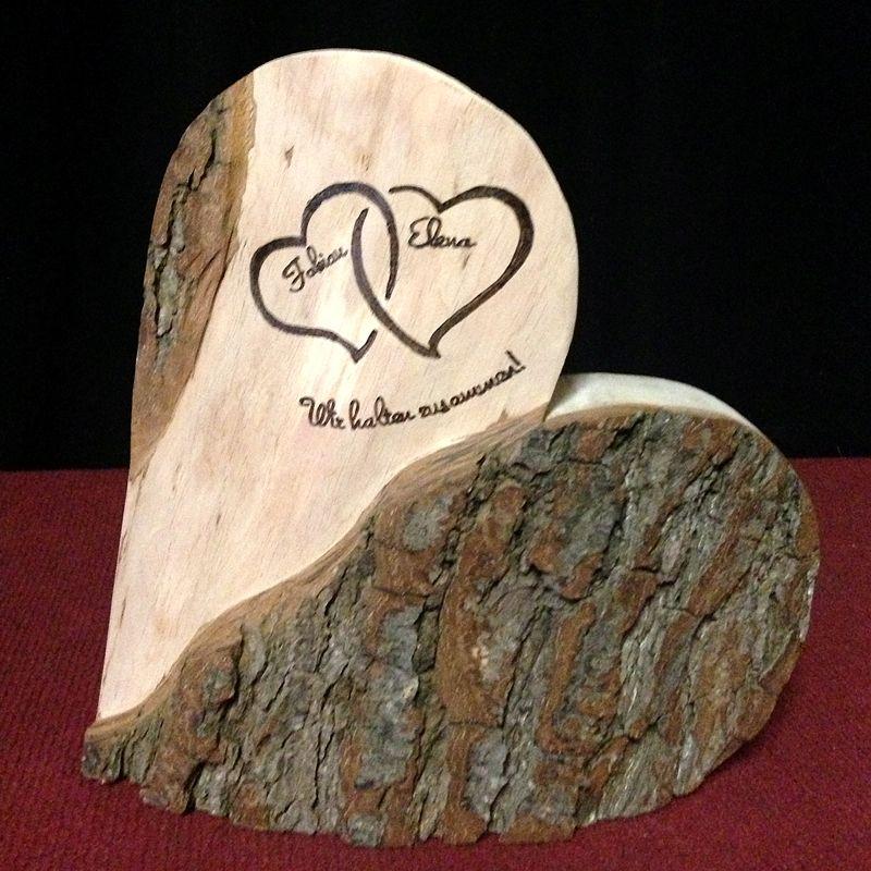 Ewige Liebe Holzdeko 28 cm Geschenk zur Hochzeit  New