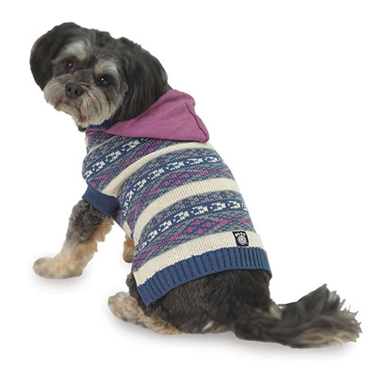 Phoebe's Hooded Fair Isle Dog Sweater - Purple | PUPS | Pinterest ...