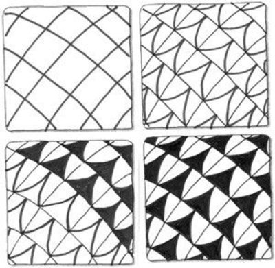 Zentangle step by step instructions doodle doodling for Drawing patterns for beginners