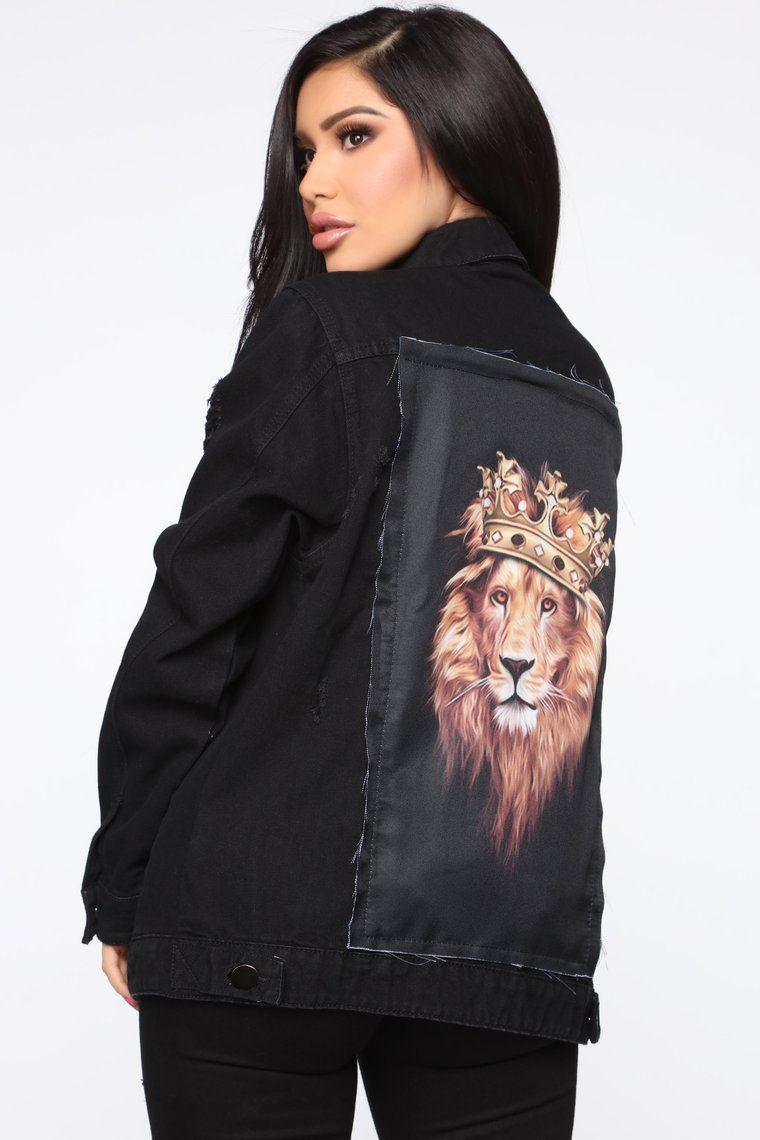 Her Majesty Denim Jacket Black In 2020 Black Denim Jacket Fashion Nova Denim Jacket