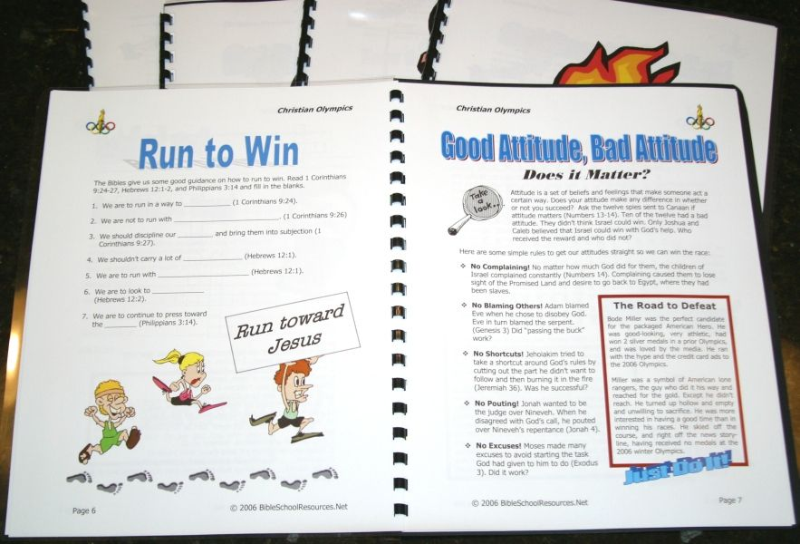 net free christian olympics vbs materials