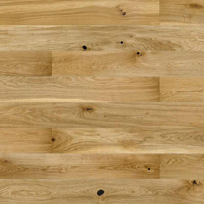 Basix Narrow Oak Engineered Matt Uv Lacquered Click Wood Flooring