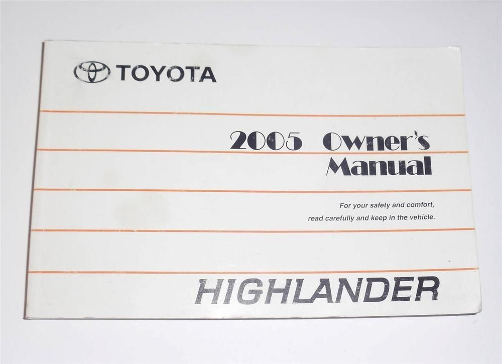 2005 toyota highlander owners manual book guide owners manuals rh pinterest com 2002 Highlander 2009 Highlander
