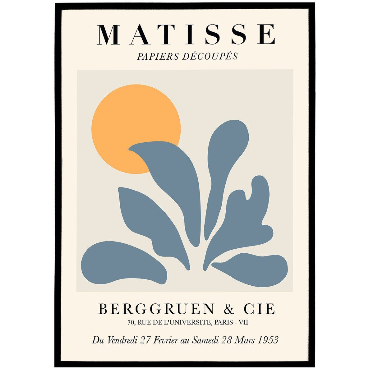 Henri Matisse Art Print Perfect To Decorate Your Home Or Office We Print Each Poster On Premium 190gsm Matte In 2020 Matisse Prints Exhibition Poster Nature Prints