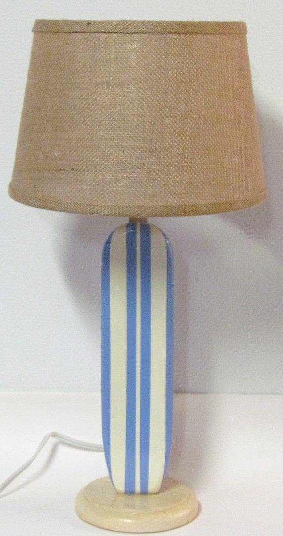Sky Blue Surfboard Lamp Nursery Kids By Markersix 69 99