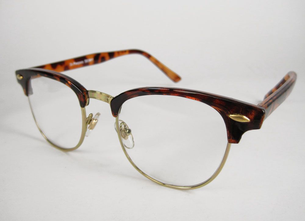 a27d015c82f 50s-HORNED-RIM-Buddy-Holly-Rockabilly-NERD-Clear-Glasses-Black-or-Tortoise
