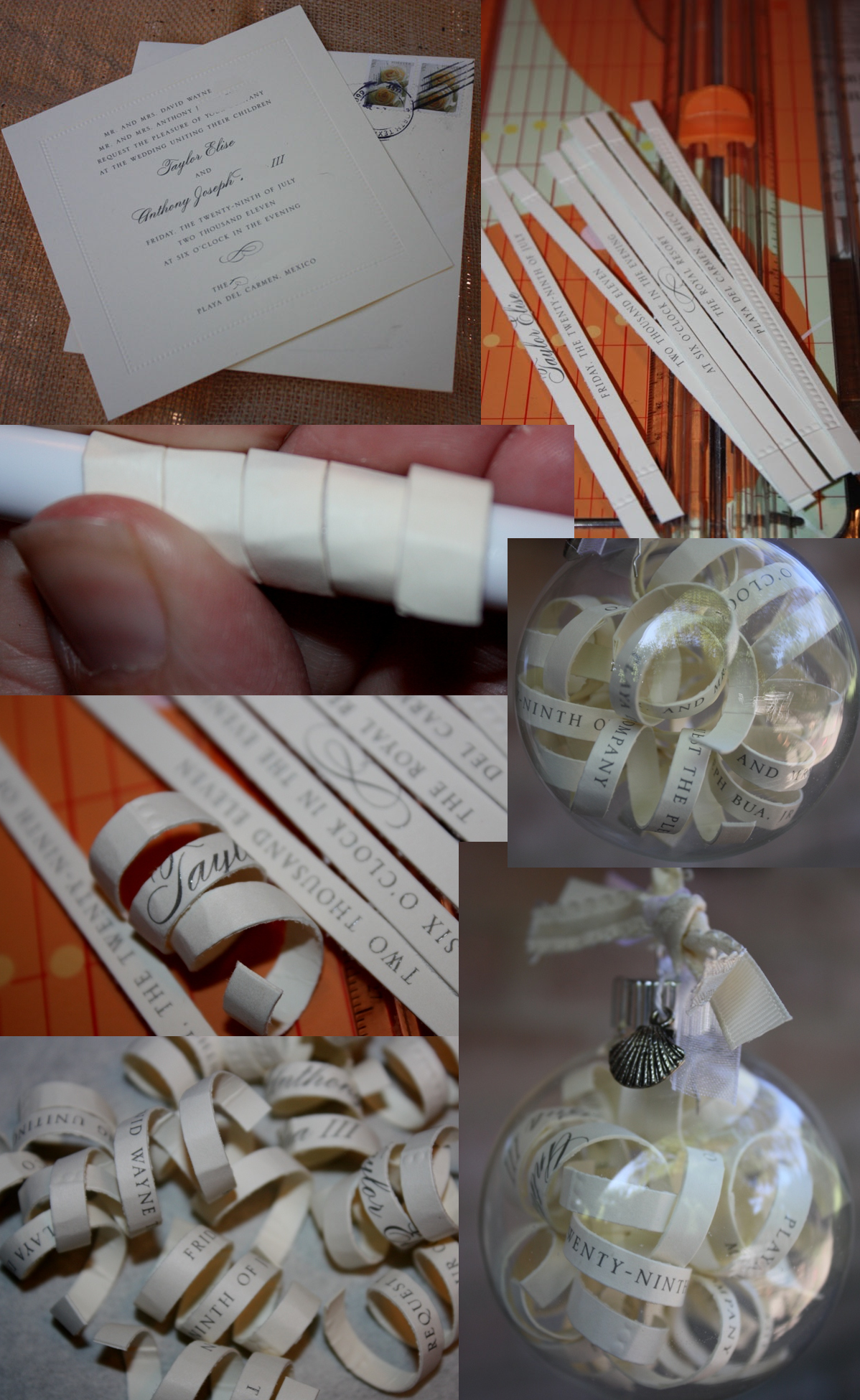 Because I Was Playing With The Idea Of A Christmas Wedding Favor