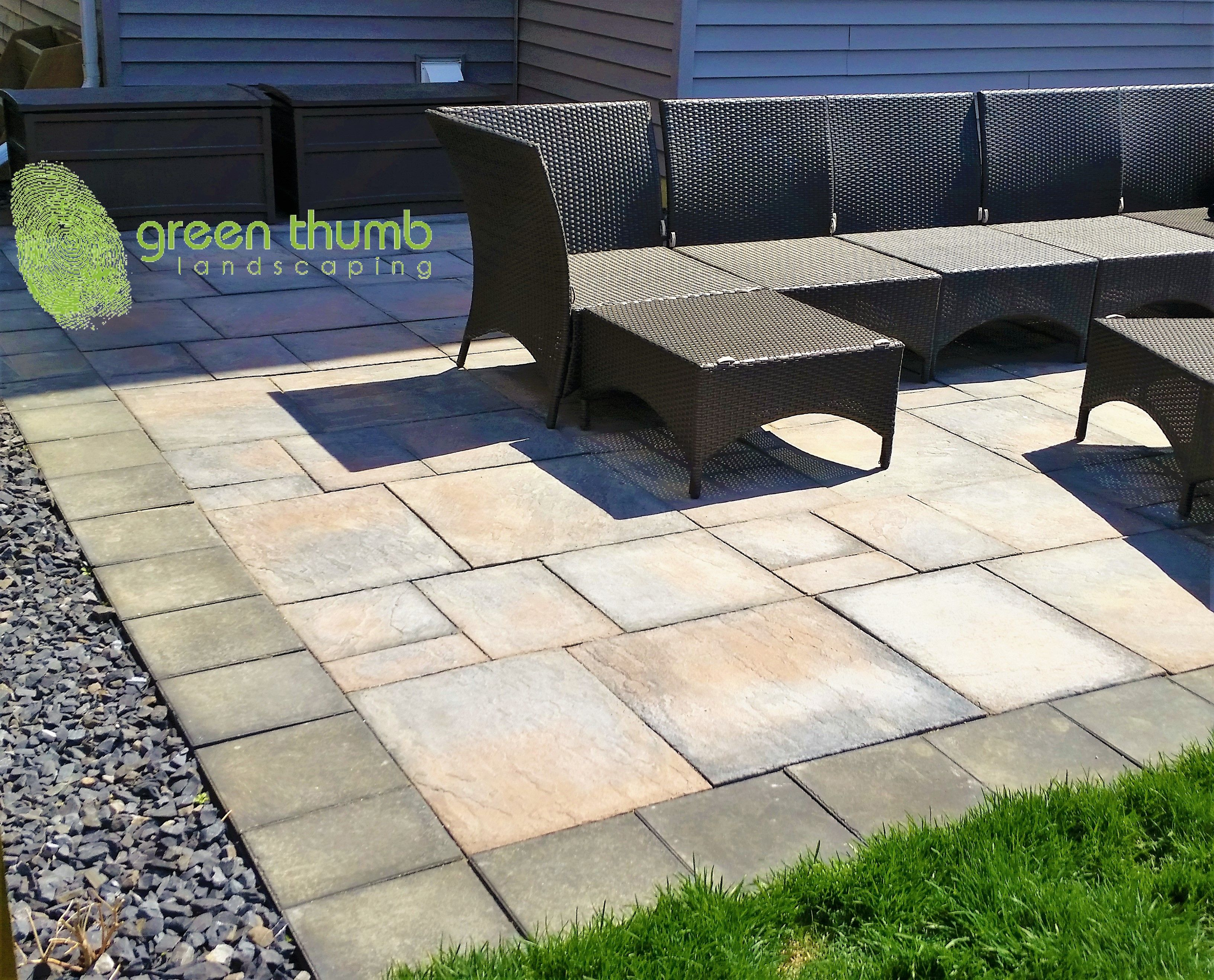 A Barkman Dynasty Paving Stone Patio With An Expocrete Double Holland  Boarder. This Space Will