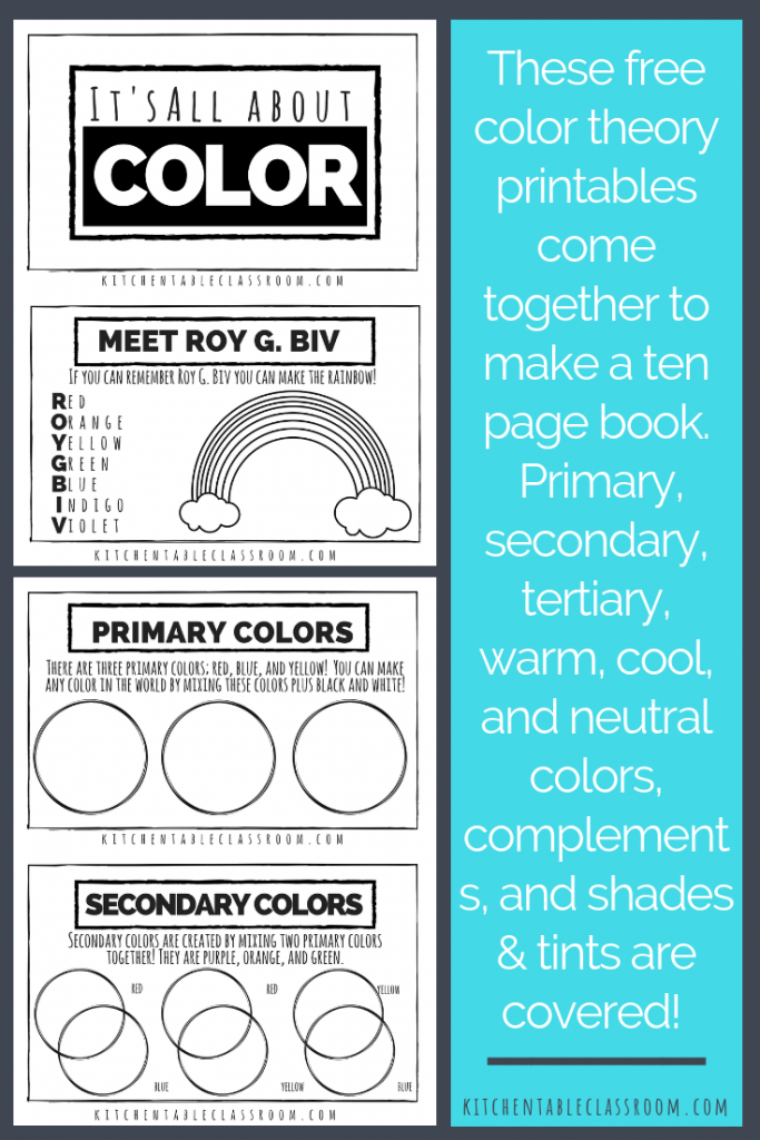 Color Theory for Kids A Free Printable Book  The Kitchen Table Classroom  Color theory