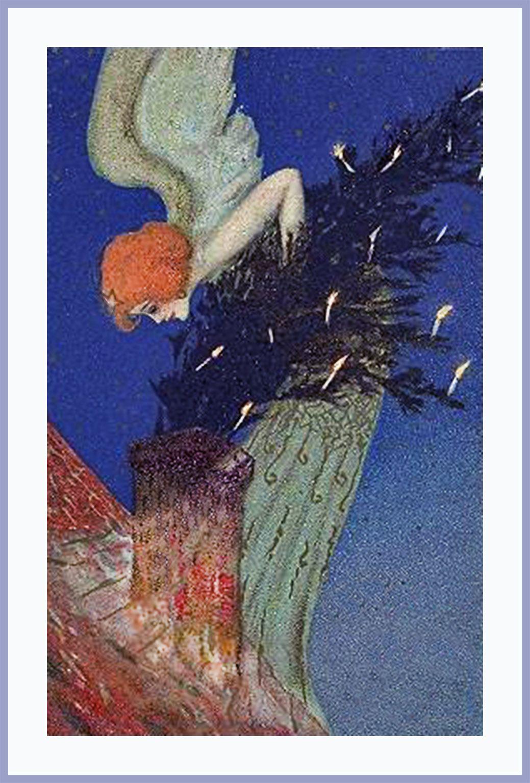 art-nouveau-christmas-post-card | Beautiful or funny postcards ...