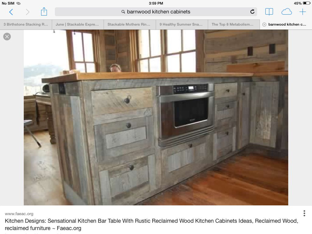 Barn Wood Kitchen Cabinets Barn Wood Cabinets House Pinterest Wood Cabinets Barns And