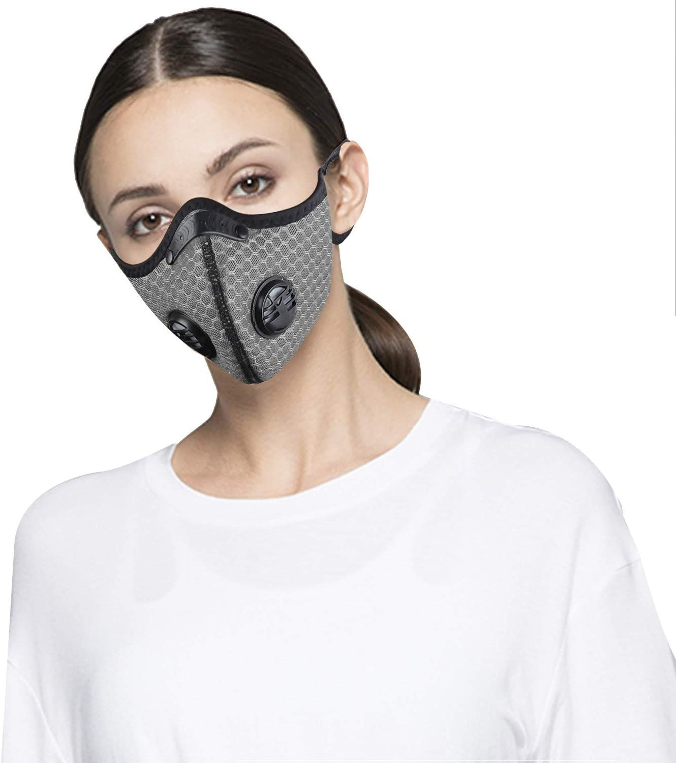 Anti Dust Pollution Mouth /& Nose Face Mask Adjustable PM 2.5 Carbon Filter UK