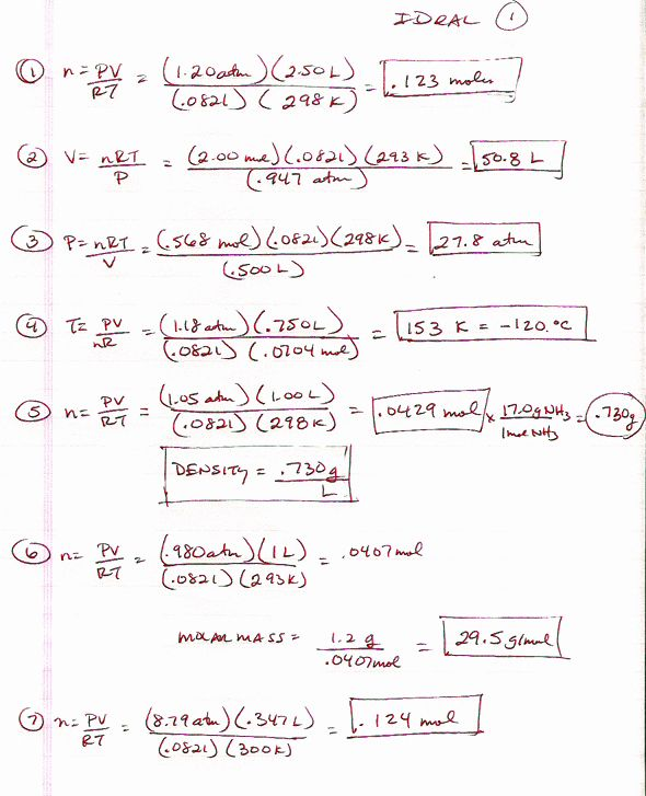 Gas Variables Worksheet Answers Best Of Gen Chem Page in ...