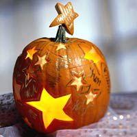 Glowing Stars Painted Pumpkins