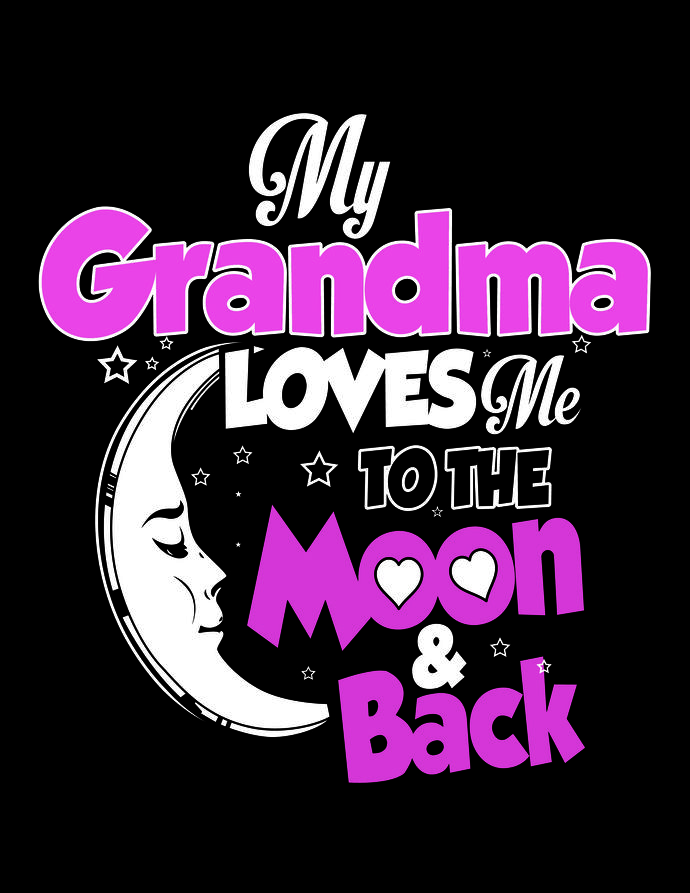 Download My Nana Loves Me To The Moon And Back Svg
