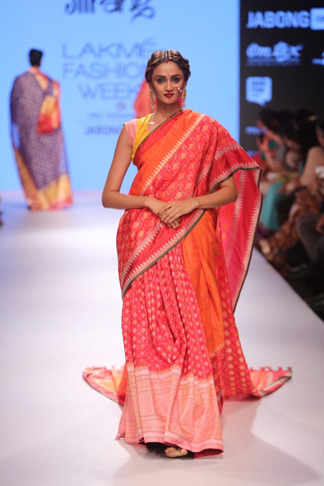 Saree for fashion show gaurang shah at lakme fashion week  beautiful sarees  pinterest