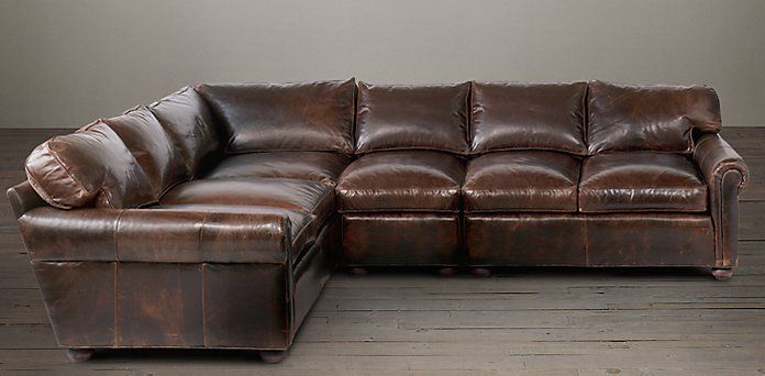 Lancaster Leather Sectionals Restoration Hardware Sectional Tufted Sofa Modern Couch