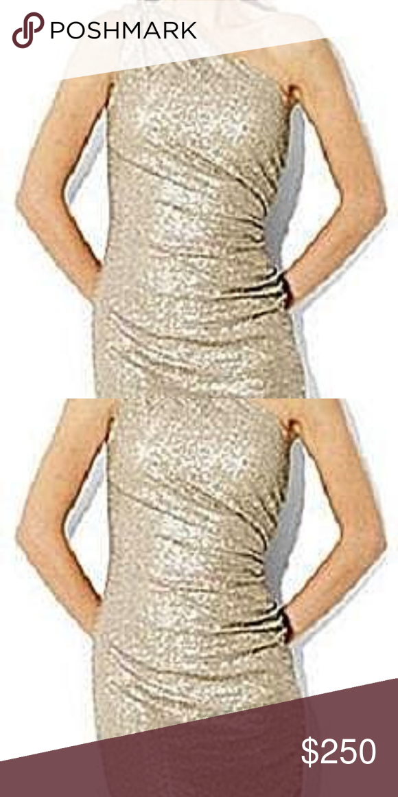 fa2bb754b599 RALPH LAUREN Gold One Shoulder Sequin Dress NEW 12 New with tag. Please  know your size. Ralph Lauren Dresses