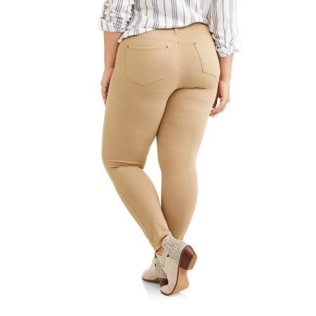 6bf01d45d023c Plus Size Faded Glory Women's Plus Ankle Length Jeggings, Size: 4XL, Brown