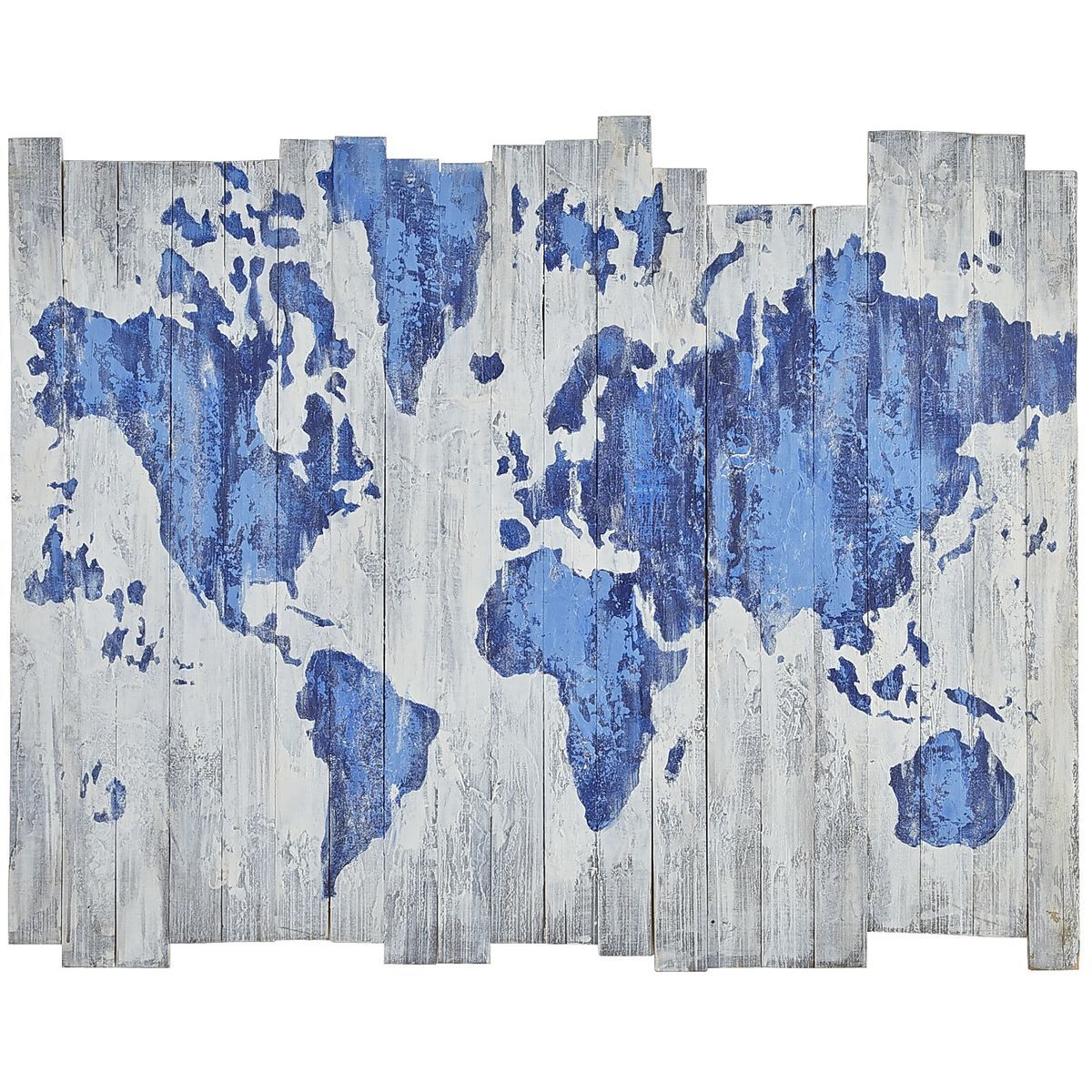 World Map on Wood Planks | Pier 1 Imports | Wood world map ...