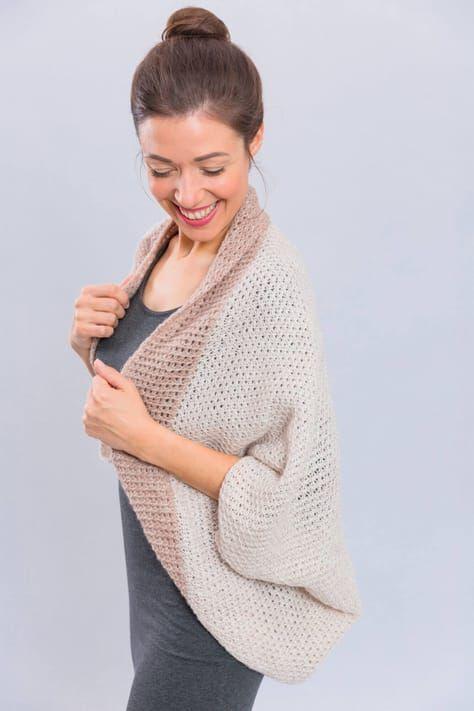 Tunesisch gehäkelter Seelenwärmer - kostenlose Häkelanleitung #shrugsweater