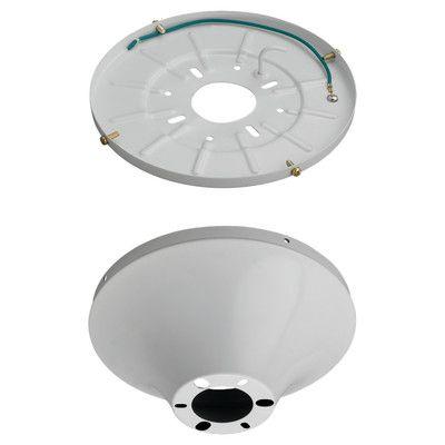 """Monte Carlo Fan Company 8"""" Semi Flush Mount Finish: White"""