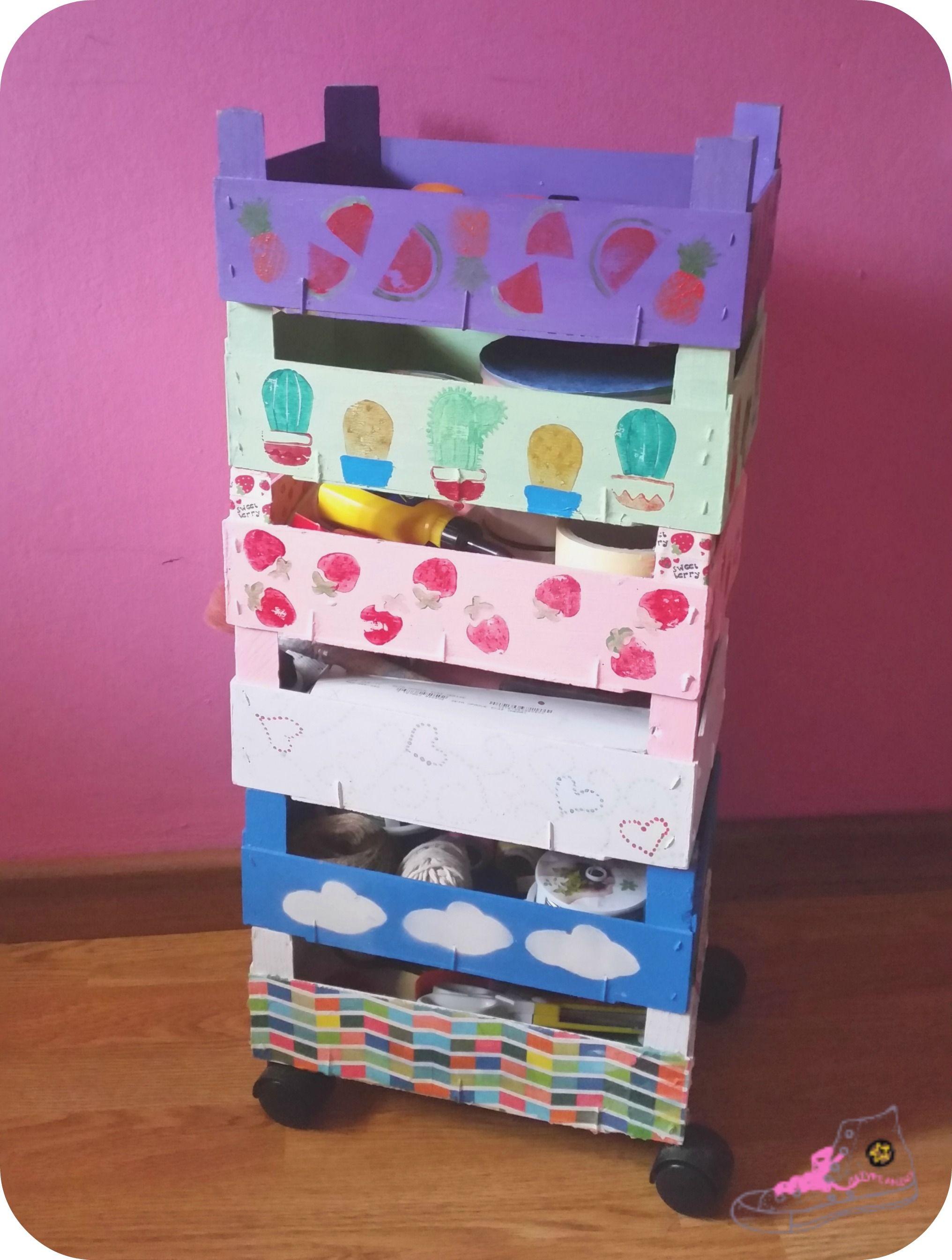 Como hacerte tu propio carrito r skog de ikea con cajas de - Cajas de ikea ...
