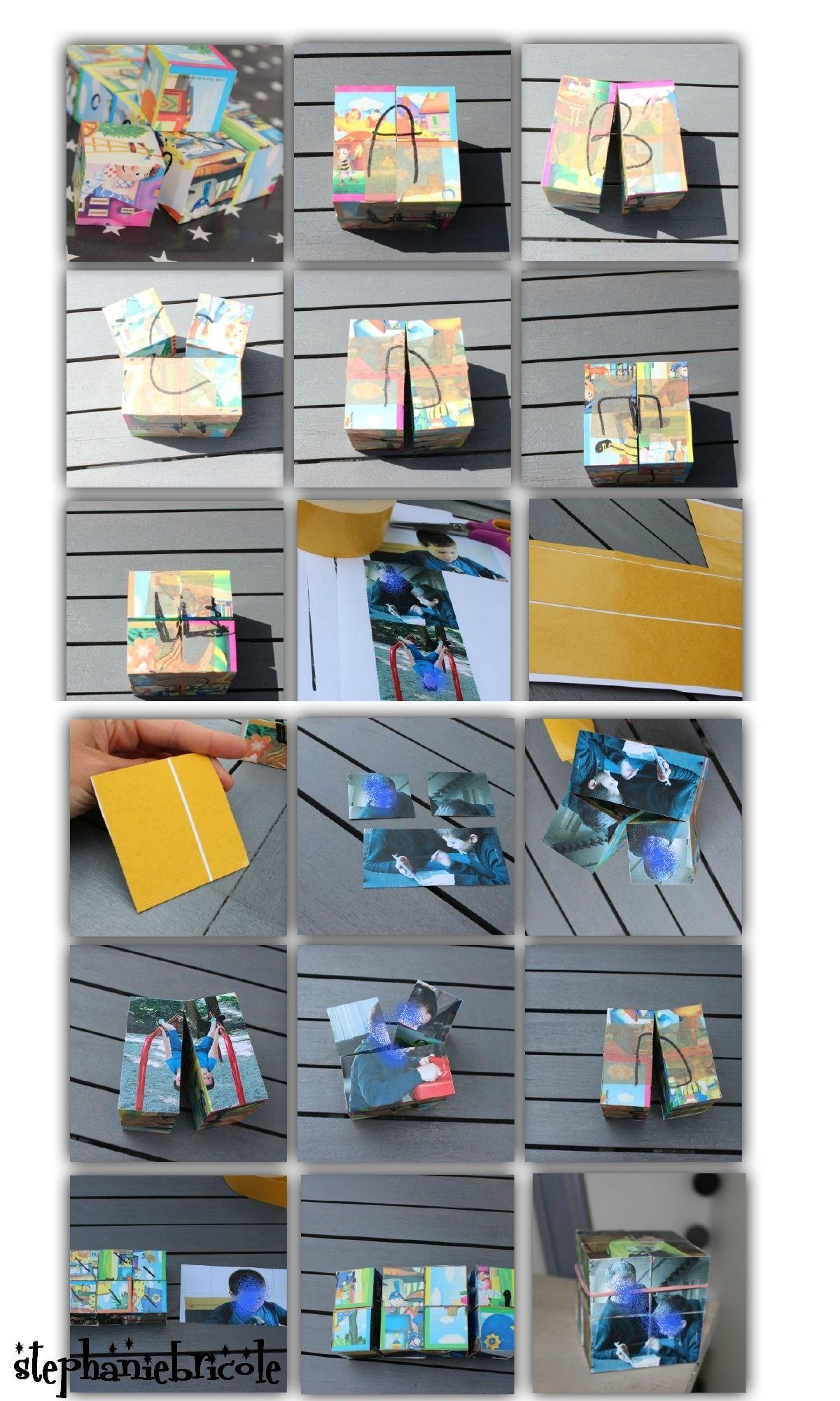 do it yourself faire un cube magique avec 9 photos. Black Bedroom Furniture Sets. Home Design Ideas