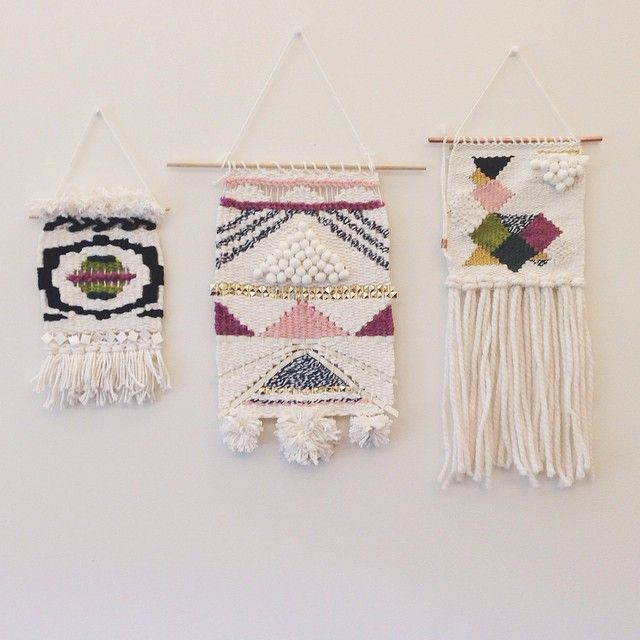 Love the middle one. Would love a weaving wall mjdweavings