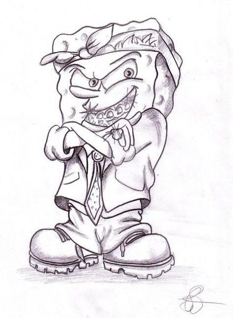 Gangster Spongebob Drawings