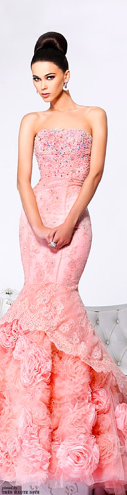 Sherri Hill ~*~PM | Garden Wedding in Coral PInk, Peach and Yellow ...