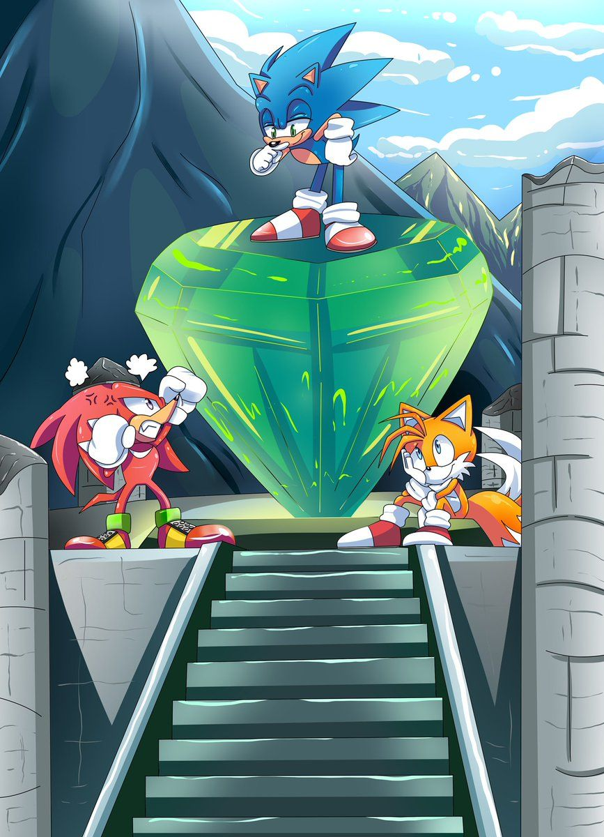 Knuckles the Echidna, Sonic the hedgehog y Miles «Tails» Prower