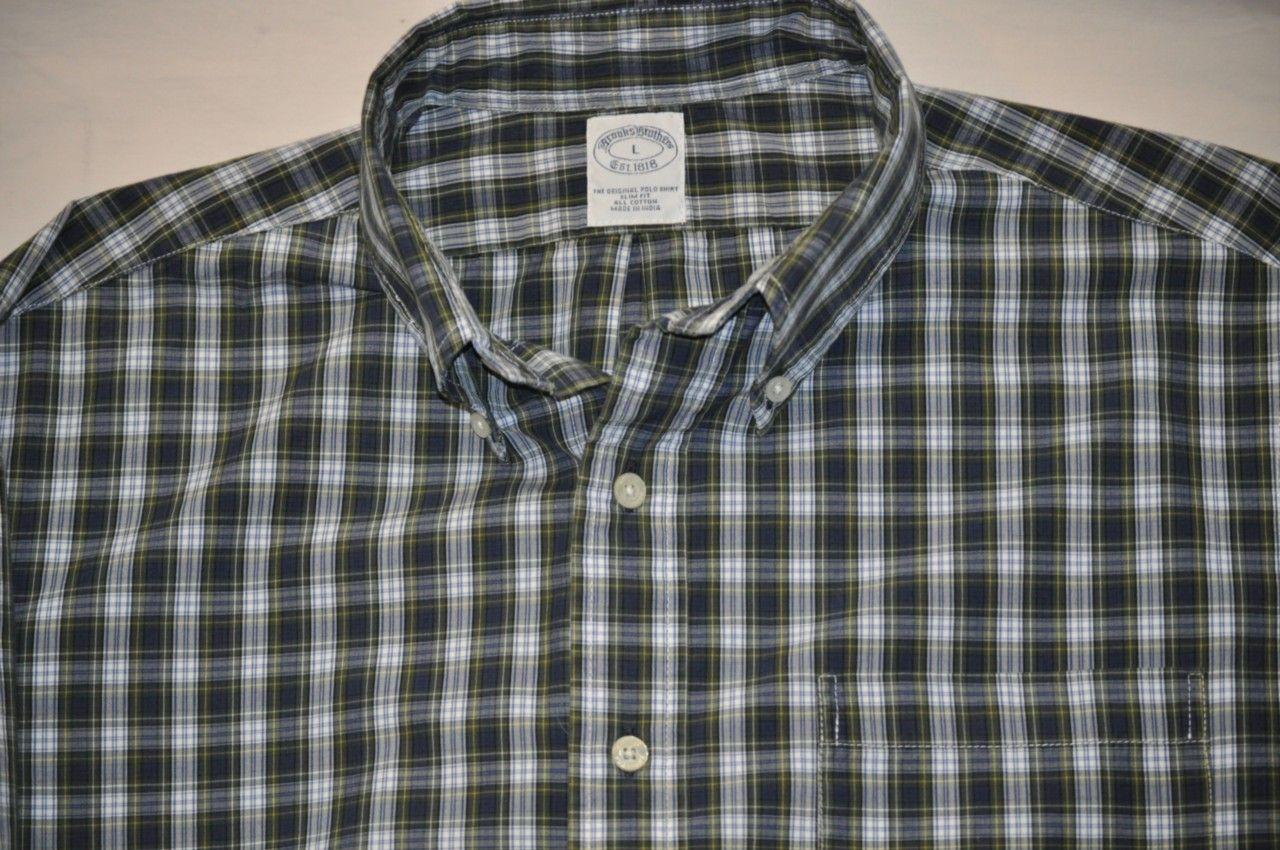 Brooks Brothers - Green Plaid Long Sleeve Shirt