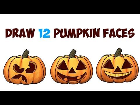 Huge Guide To Drawing Cartoon Pumpkin Faces Jack O Lantern Faces Expressions Emotions Easy Step Pumpkin Faces Drawing Tutorials For Kids Pumpkin Drawing