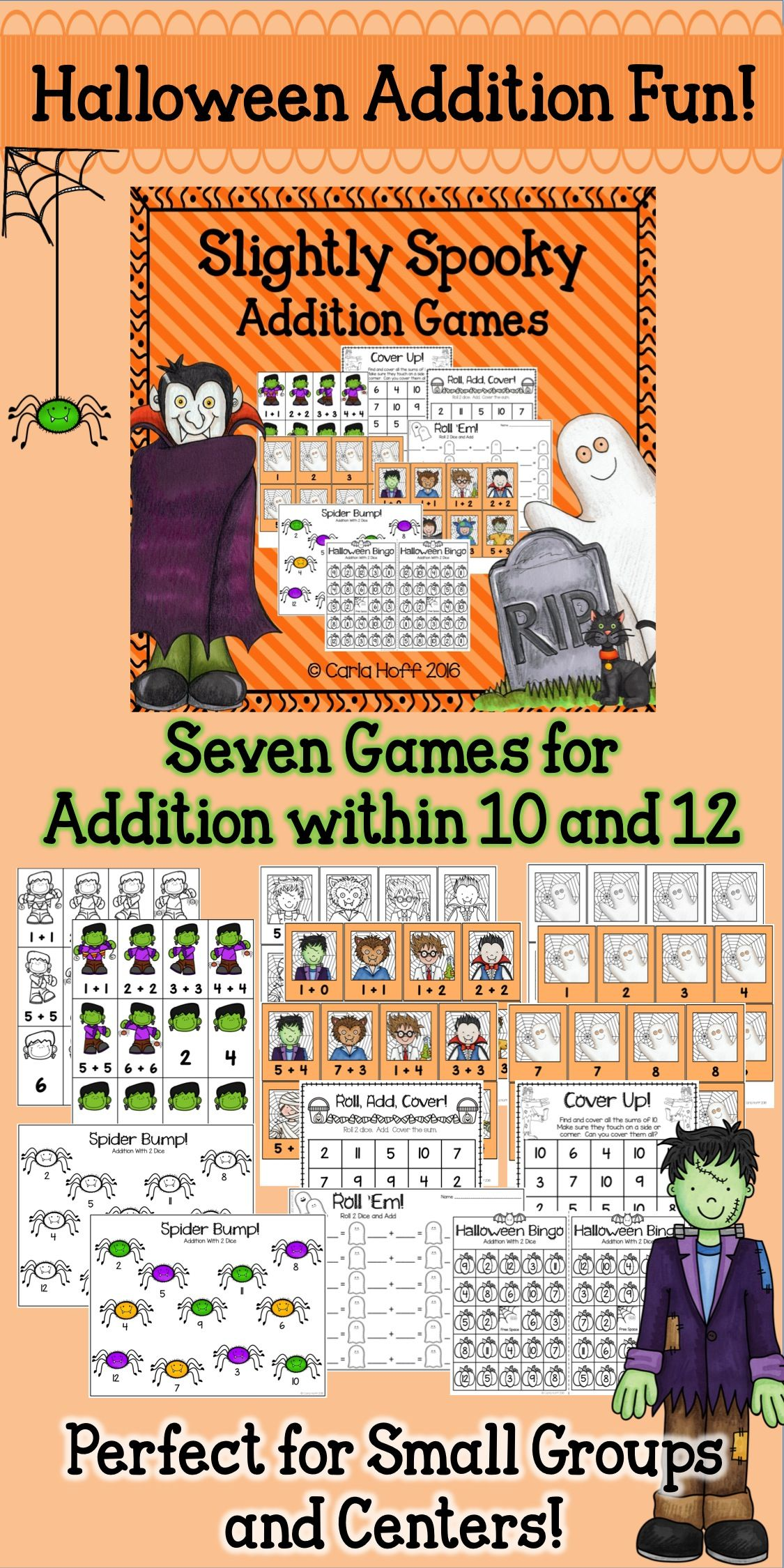 click here for easy prep halloween addition games perfect for small groups and centers - Halloween Games For Groups