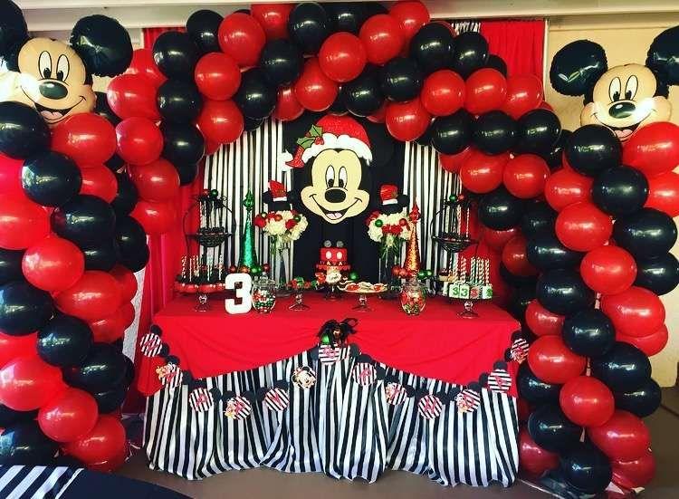 mickey mouse christmas birthday boy birthday party ideas photo 3 of 29