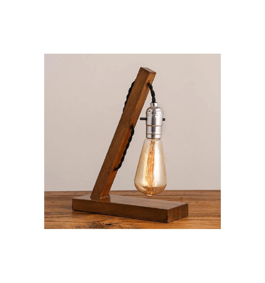 Lampe  poser rustique en bois Baker Lampes  poser