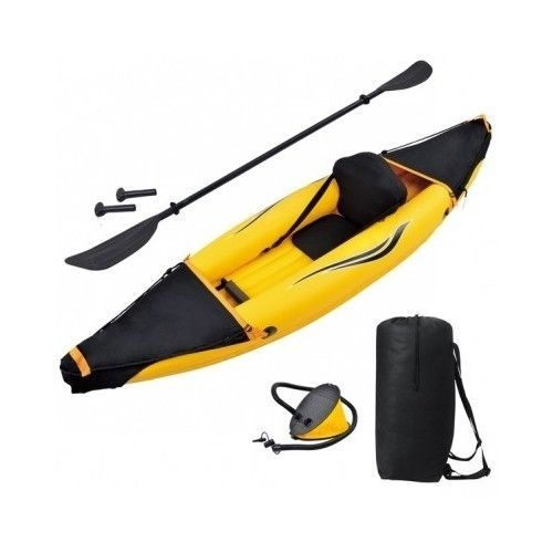 Portable Inflatable Kayak Blow Up Canoe Fishing Paddle Boat