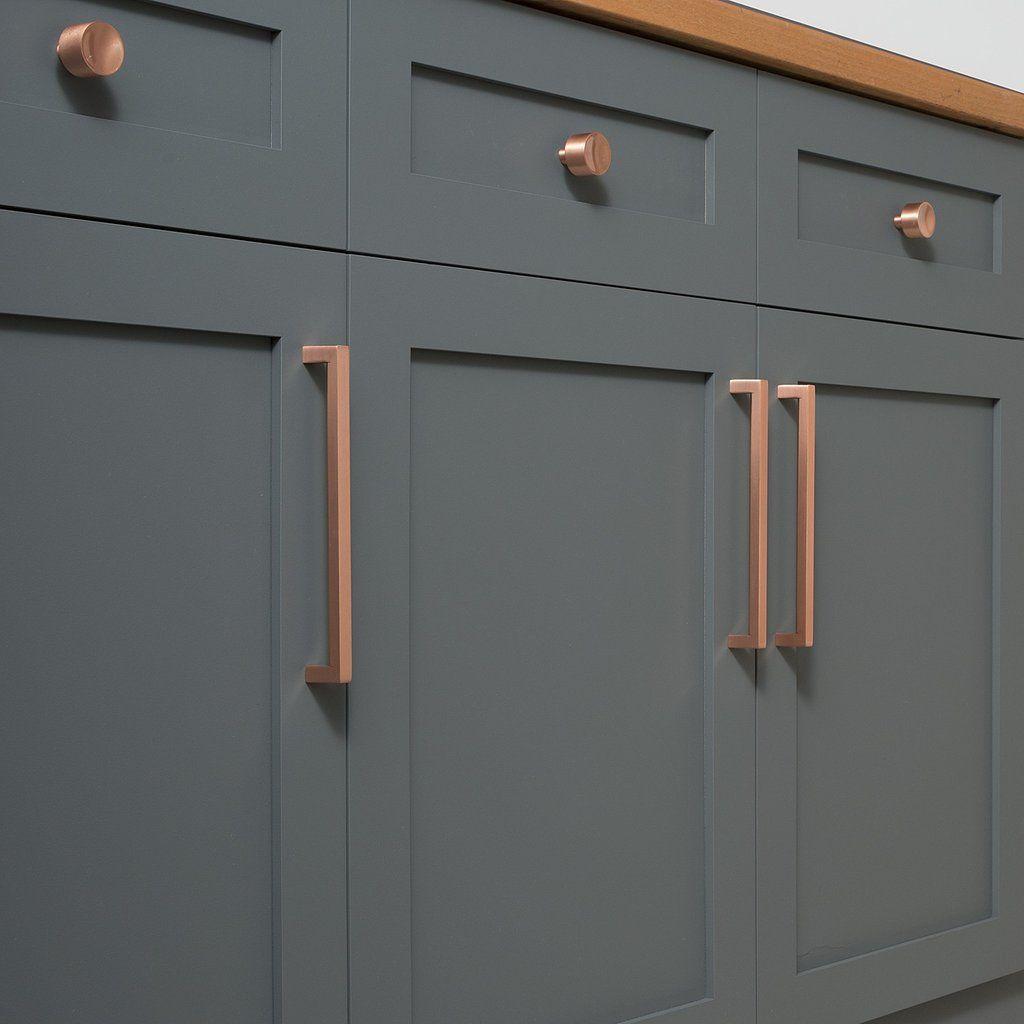 Mid Century Knob - Satin Copper | Schoolhouse Electric | HARDWARE ...