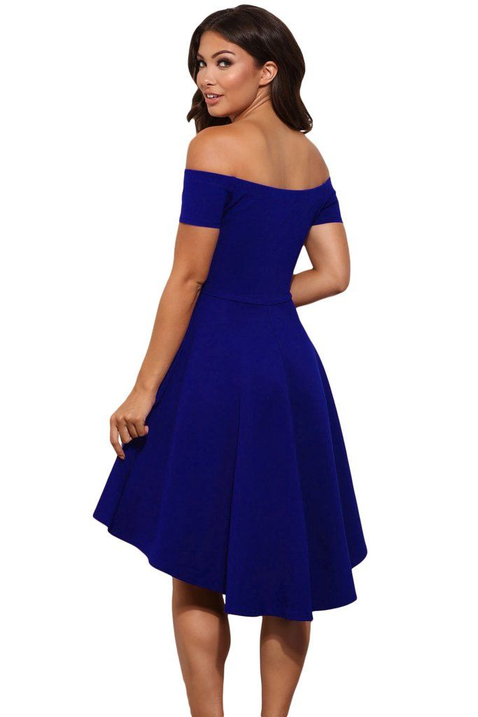 Blue All The Rage Skater High Low Cocktail Dress | Pinterest ...