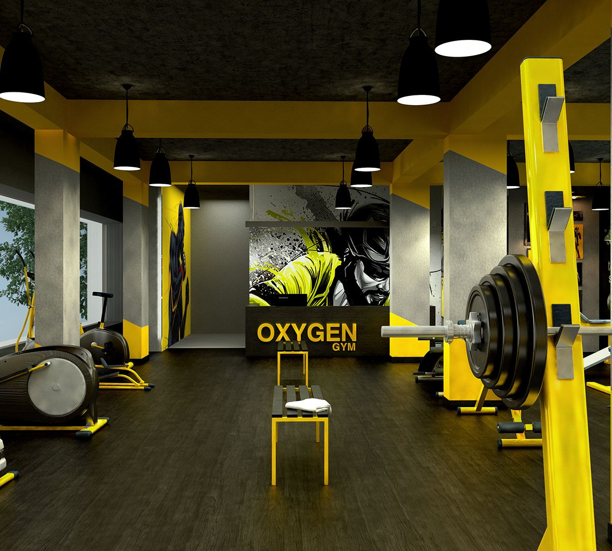 Home Gym Design Ideas: GYM Interior Ernakulam On Behance