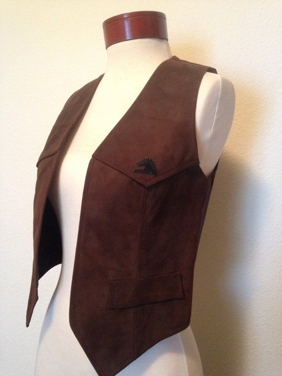 1980s Jordache suede leather vest chocolate by twinflamesboutique