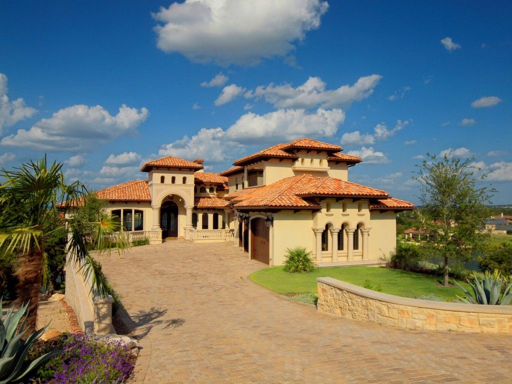 Horseshoe bay lake lbj mediterranean front elevation by for Custom mediterranean homes