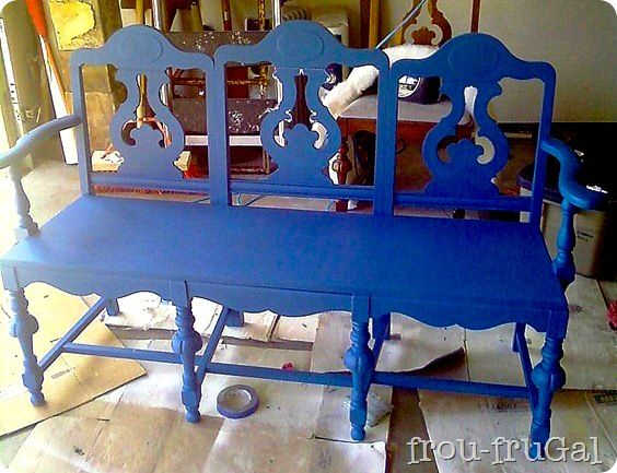 how to make a bench from old chairs repurposed pinterest