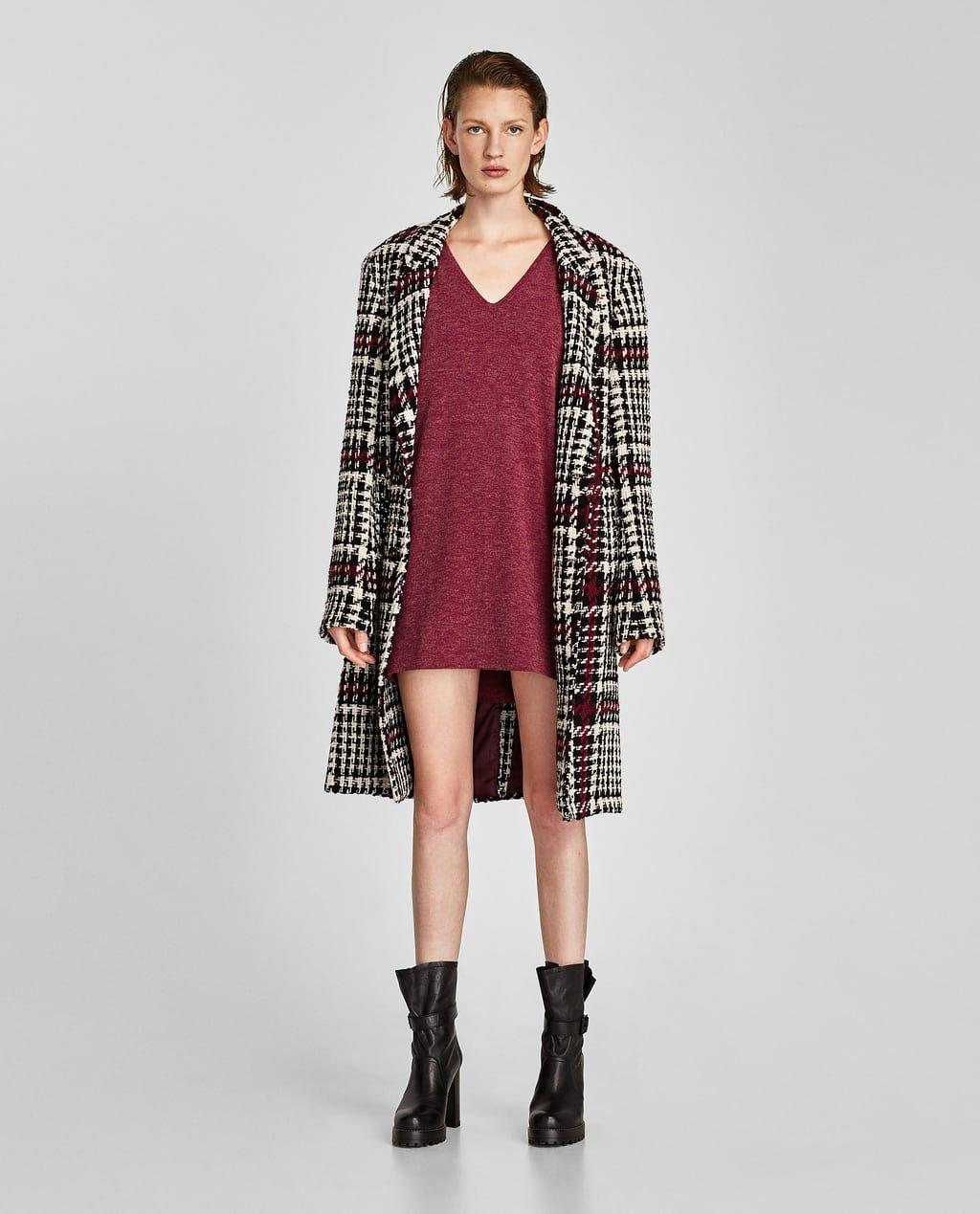 Zara vestido punto manga larga