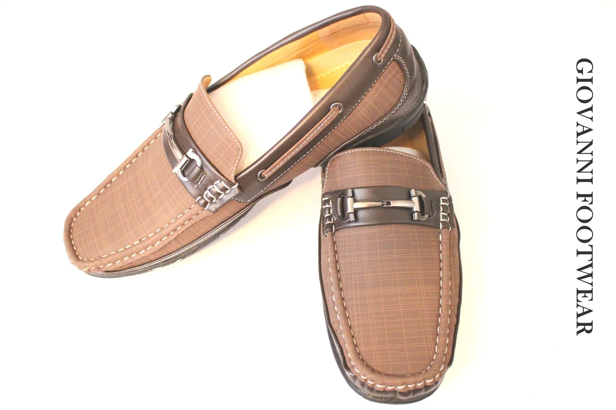 5016edefb64 Casual Slip on Giovanni Loafer Dress Shoes - Brown | CASUAL SLIP ON ...