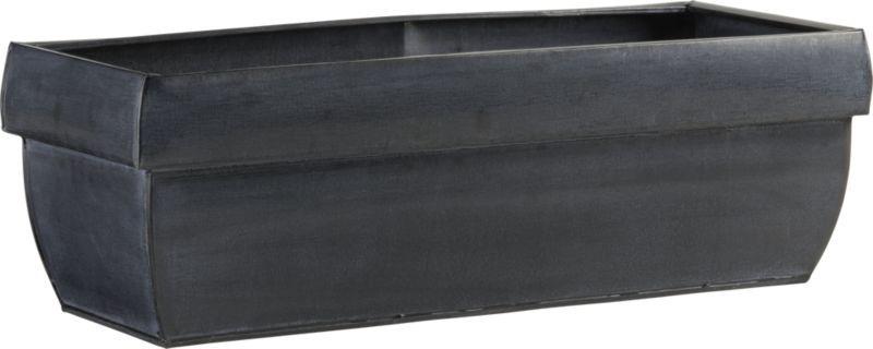 Zinc Rectangular Rail Planter Crate And Barrel Plantings