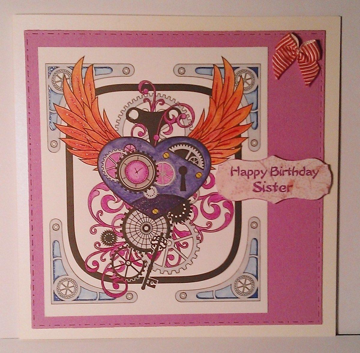 Happy birthday sister card conscious crafties happy