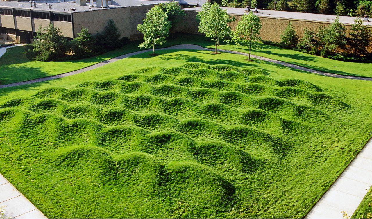 I Wave Field I Maya Lin University Of Michigan Ann Arbor 1995 Tim Thayer Maya Lin Outdoor Art Landscape