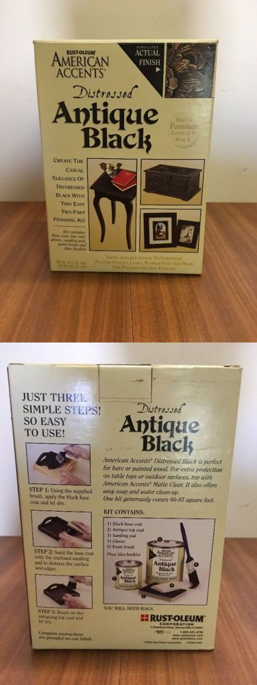 Other Painting Supplies 11785 Rust Oleum American Accents Distressed Antique Black Kit Buy It Now Only 30 On Eba Antiques Antique Furniture Kit